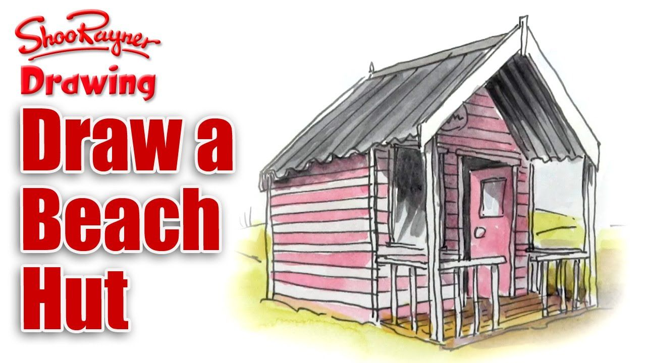 How To Draw A Beach Hut