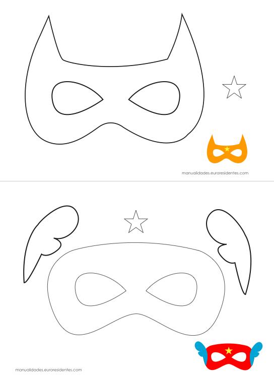 Originales máscaras de superhéroes para imprimir | Actividades para ...