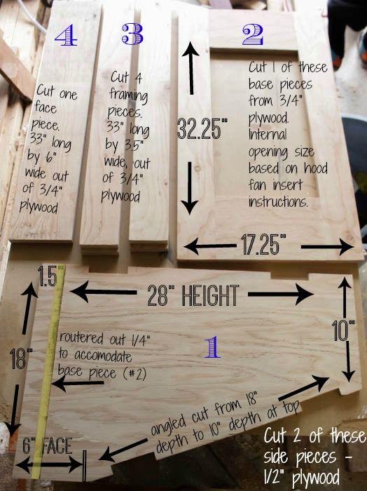 How To Build A Diy Range Hood Fan For A Broan Insert Kitchen Range Hood Range Hood Kitchen Vent