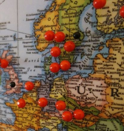Make a corkboard world map gumiabroncs Choice Image