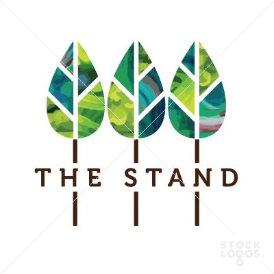 Three 3 Trees Tree Logo Design Oak Tree Logo Design Nature Logo Design
