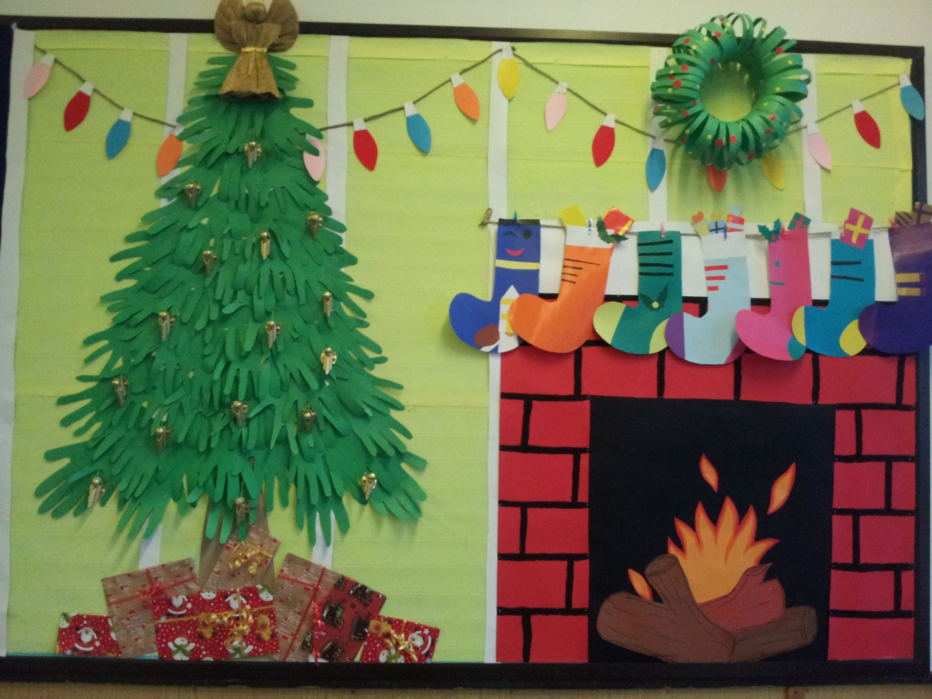 White Christmas Classroom Decorations ~ Christmas bulletin board and door