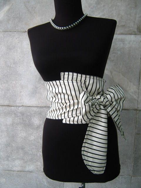 ce8e35daa967 Textile ceinture corset - noir et blanc …   pojas in 2018…