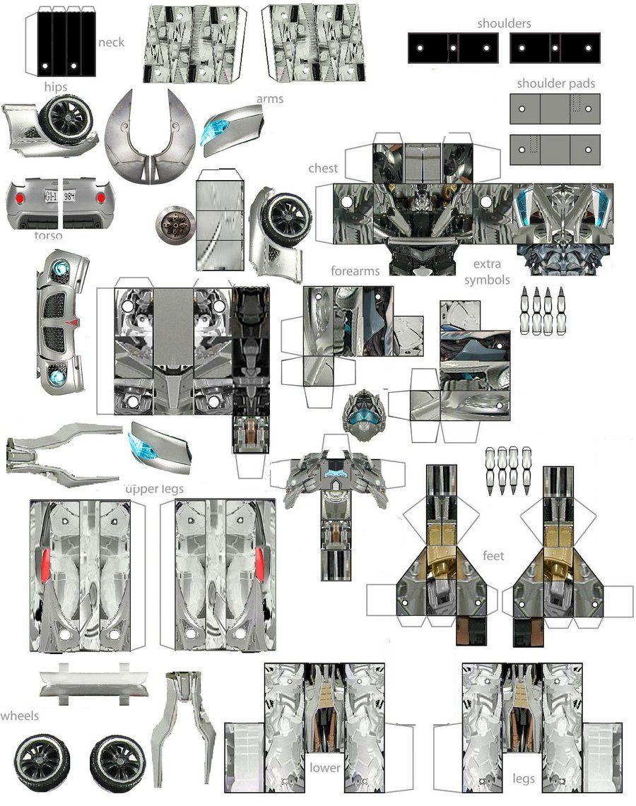 Papercraft Jazz By Minibot Gears On Deviantart Paper Robot