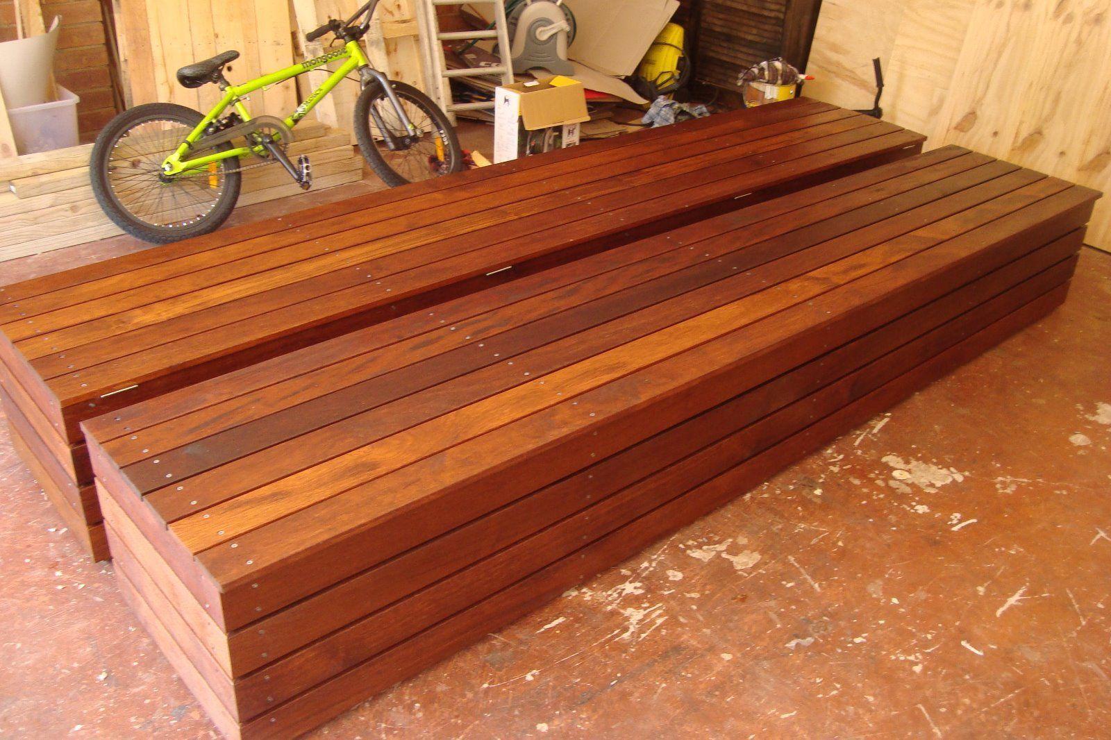 Merbau Storage Bench Seat In Home Garden Furniture 400 x 300