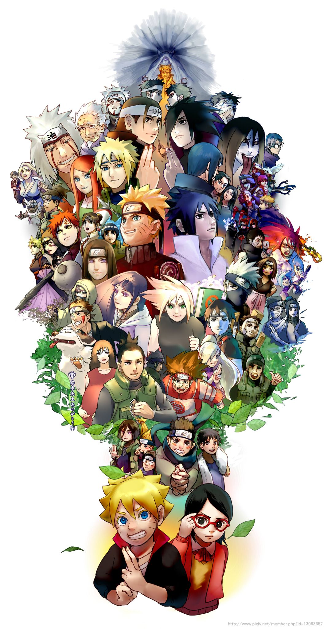 Over the generations Personnages naruto, Dessin naruto