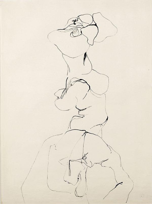 Alina Szapocznikow. Untitled, 1970-1971; Ink on laid paper; 24 13/16 x 18 7/8 in. Courtesy The Estate of Alina Szapocznikow / Piotr Stanislawski / Galerie Loevenbruck, Paris © ADAGP, Paris. Photo: Fabrice Gousset.