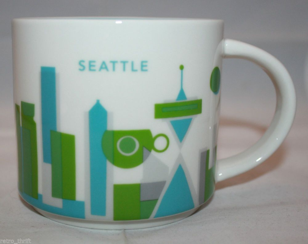 Starbucks Coffee 2013 You Are Here Collection Seattle 14 oz Mug Cup NIB