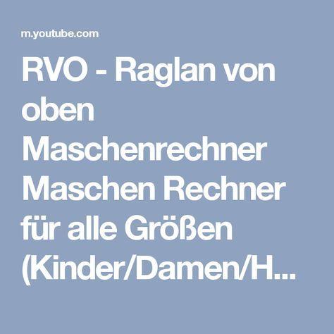 Photo of RVO – Raglan von oben Maschenrechner Maschen Rechner für alle Größen (Kinder/Damen/Herren)