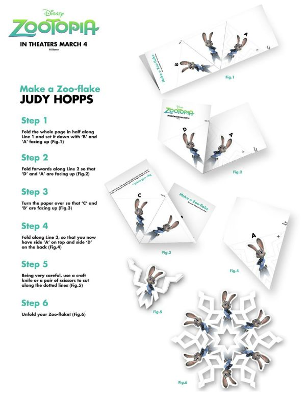 Disney Zootopia Judy Hopps ZooFlake Craft