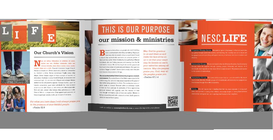 church brochure samples google search church marketing