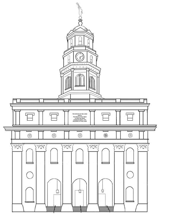 Nauvoo Temple Lineart By Liahona Lds Coloring Pages Nauvoo