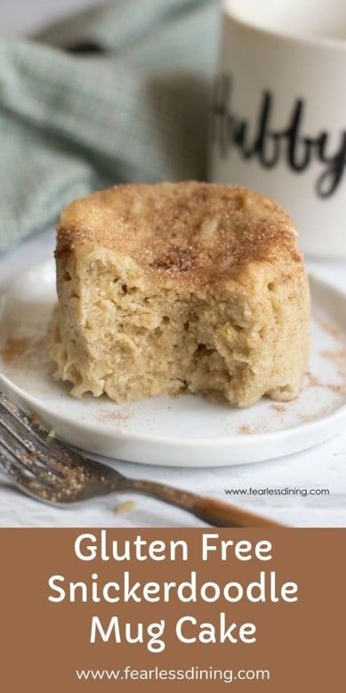 Gluten Free Snickerdoodle Mug Cake You will love this easy gluten free snickerdoodle mug cake recipe! Cake in just 90 seconds!! Cinnamon and sugar flavors make this microwave cake hard to resist. This no-bake cake is perfect so you don't heat up your kitchen on those hot summer days.
