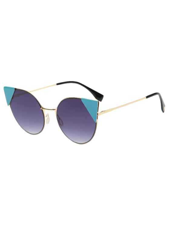 Triangle Insert Cat Eye Sunglasses - DEEP PURPLE