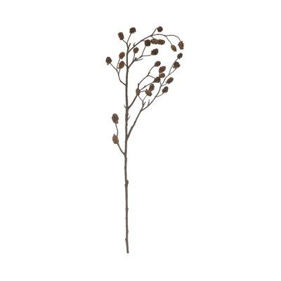 Millwood Pines At 43.25 inches tall, this faux branch with pinecones is ideal for a large floor vase. If the top of the vase has a small opening, simply place this piece in and it will be complete. For larger openings, place several of these branches inside or mix with other large branches and floral accent pieces.