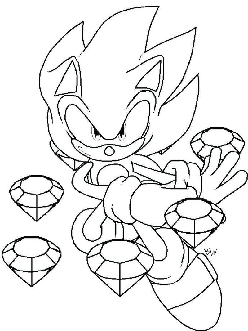 Printable Sonic Coloring Pages Di 2020