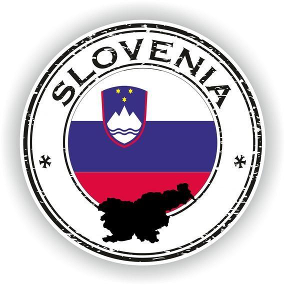 Eslovenia sello pegatina etiqueta de bandera redonda para el libro portátil nevera guitarra casco herramienta ToolBox puerta PC barco