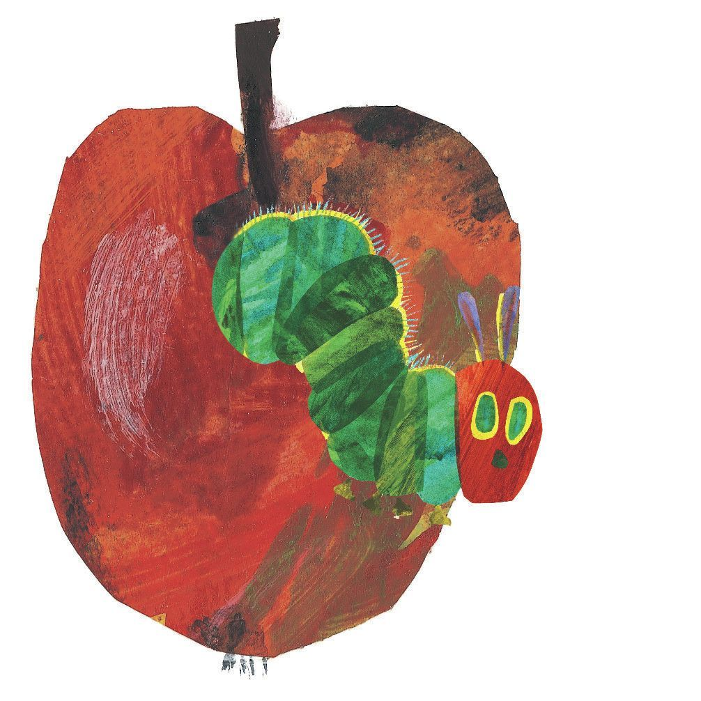 The Very Hungry Caterpillar Character Apple By Eric Carle