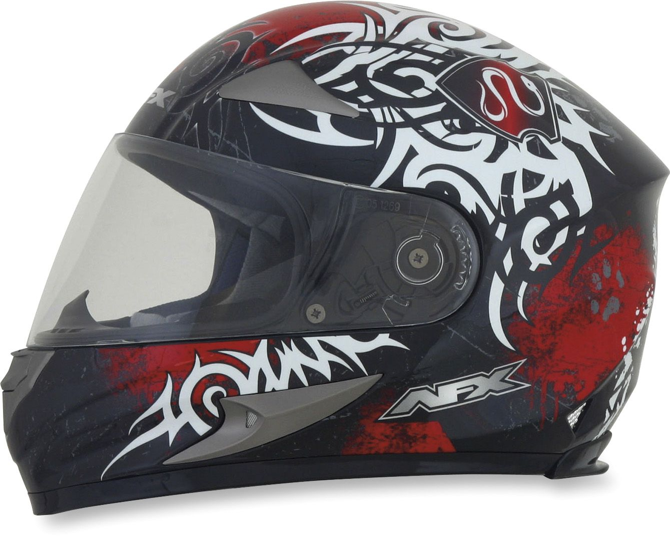 Fx90 red danger helmet from afx motorcycle riding gear