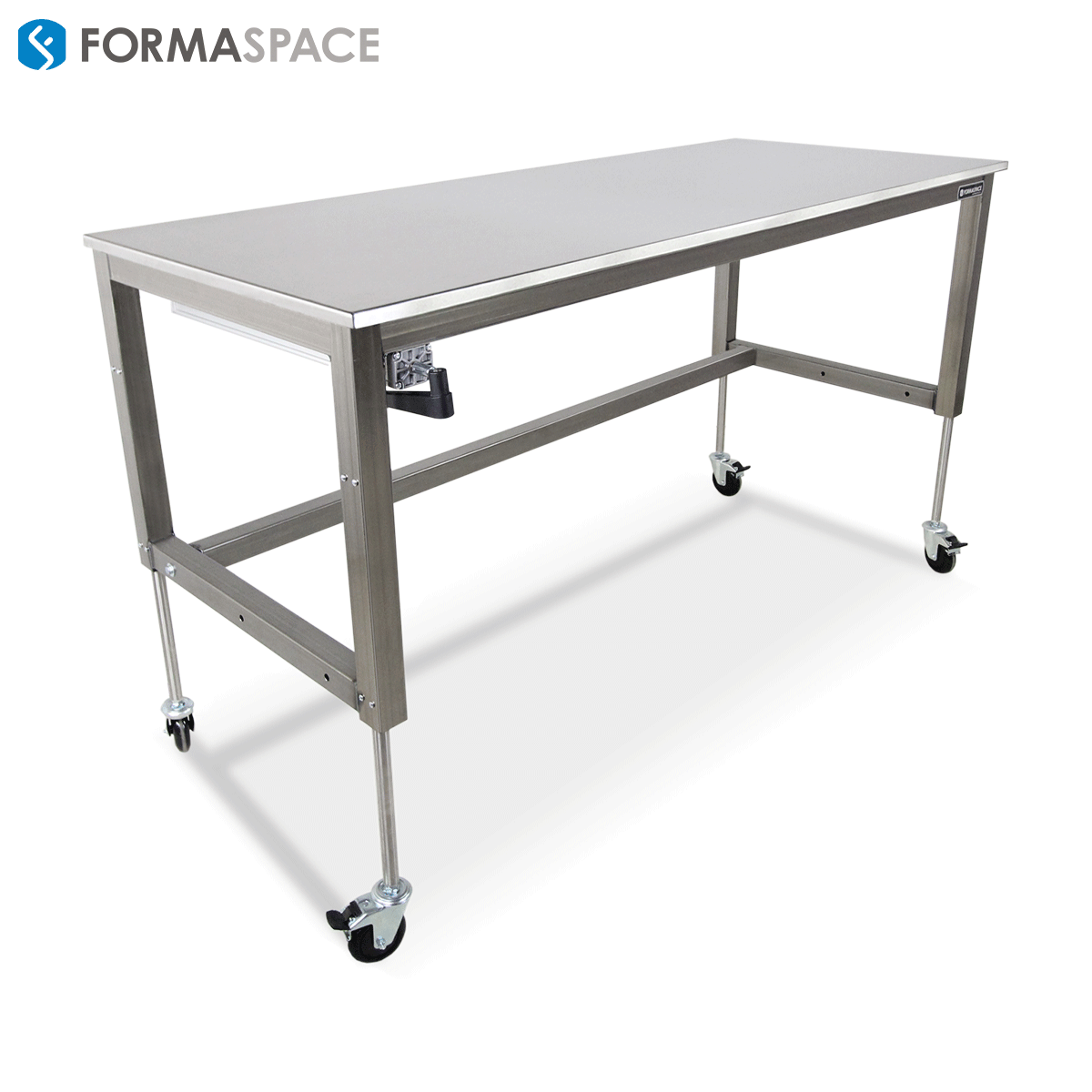 Height Adjustable Laboratory Basix Bench Formaspace Modify Our Basix Workbench With Hydraulics To Create An Ergonomic Height Adjustable Workbench Bench