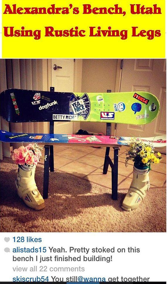 Snowboard Bench Metal Leg Frame, 15.75 Inch High Seat. Your ...