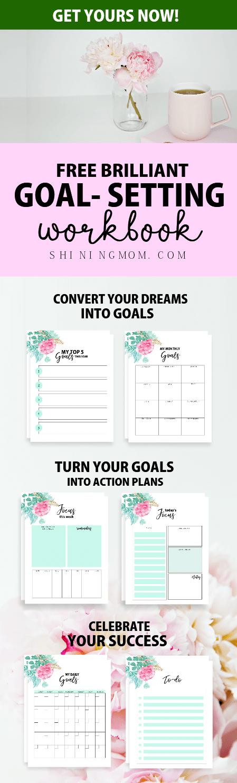 Free 2019 Goal Setting Planner: 10 Brilliant Worksheets!