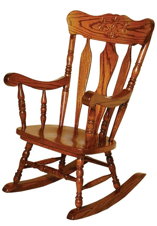 Amish Chairs Amish Child Rocking Chair Oak Daisy Or Acorn Rocker