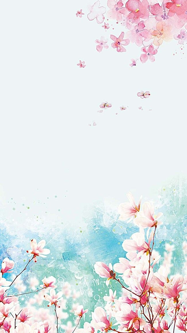 Beautiful magnolia painted background material layered psd h5