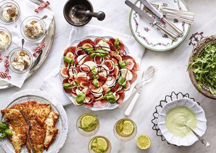 italiensk trerätters meny recept