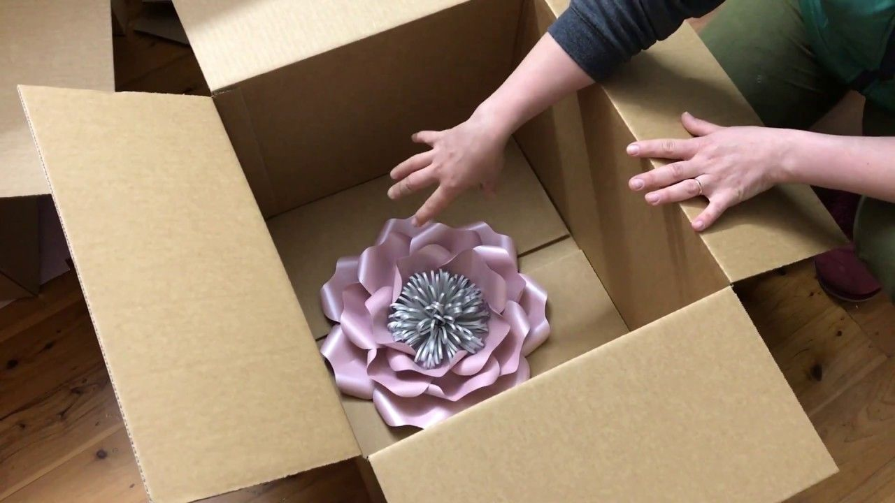 How To Pack Paper Flowers Youtube Packaging Ideas