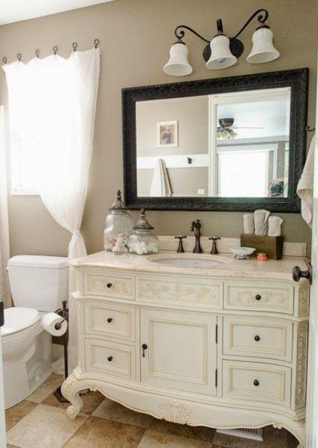 29 Vintage And Shabby Chic Vanities For Your Bathroom Salle De Bains Shabby Chic Lavabo Vintage Decoration Salle De Bain