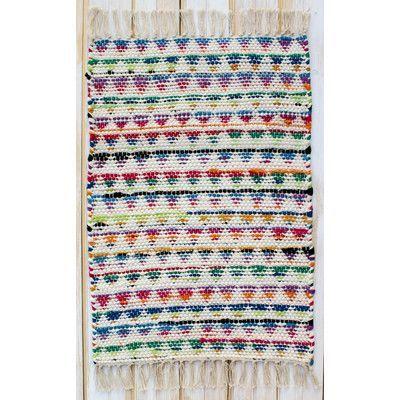 Dakota Hand Woven Cotton Green/Blue/Orange Area Rug  CLM Dakota Soft Multi Area Rug & Reviews | Wayfair  #area #Cotton #Dakota #GreenBlueOrange #Hand #Rug #woven