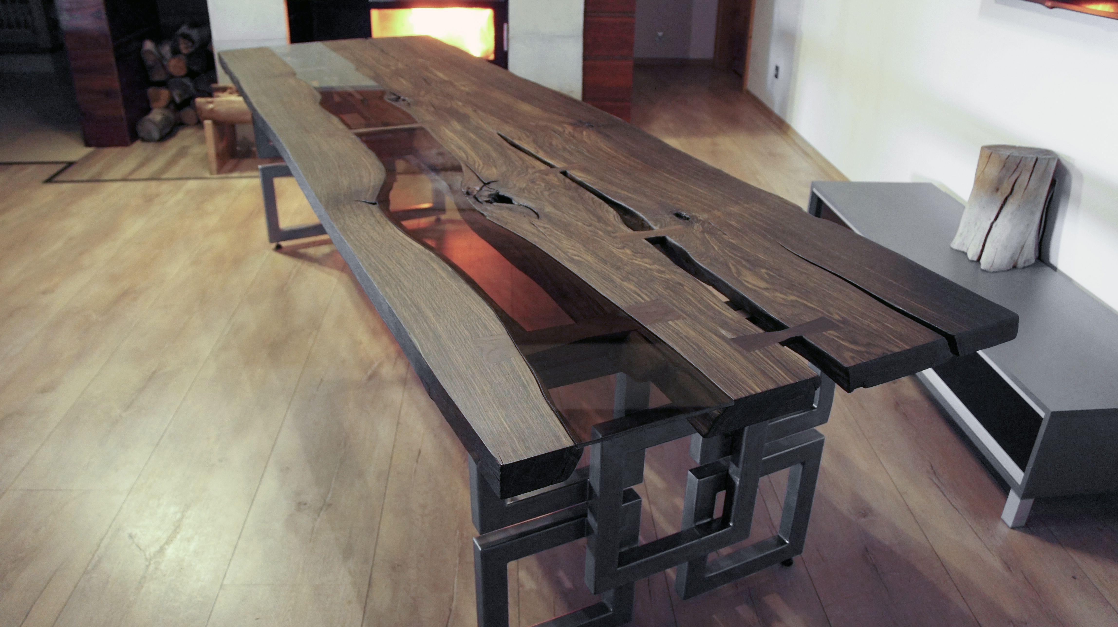 Bog Oak Table With 1600 Years Mooreiche Tisch Handmade Wohnzimmer Sachen