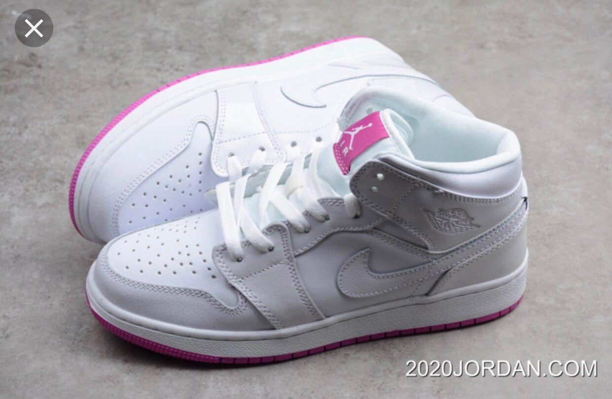 Mid rise fuchsia/white women's Air Jordan's Never worn