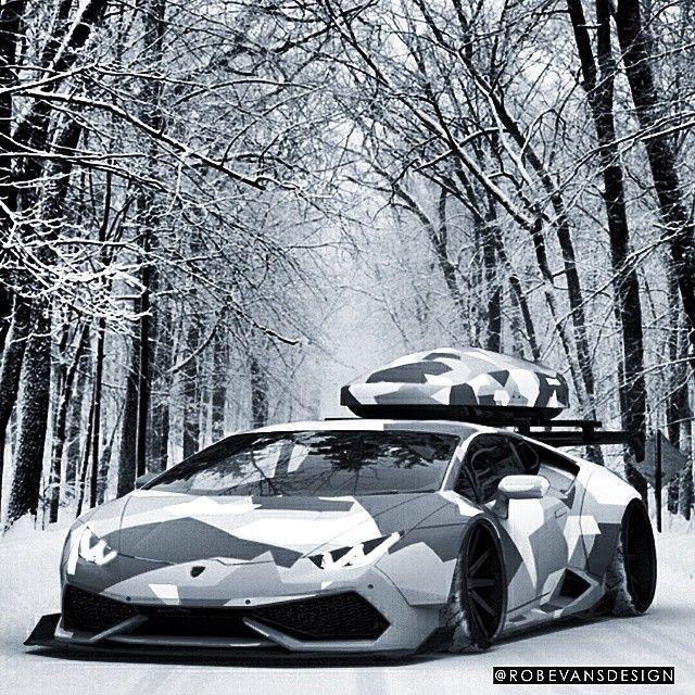 More Snow Lambo! #Lamborghini #huracan #robevansdesign