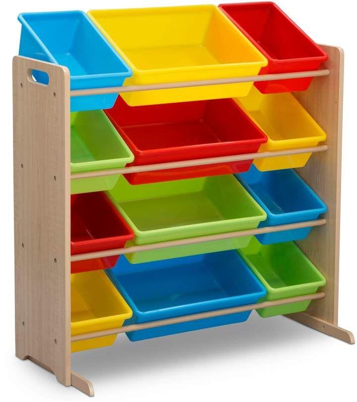 Delta Children Kids 12 Plastic Bins Toy Storage Organizer Toy