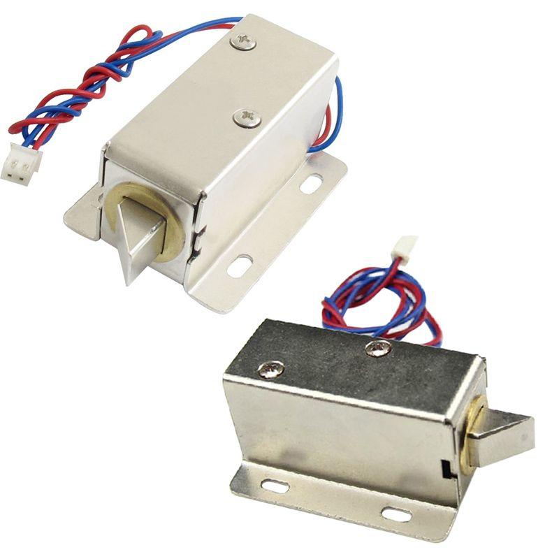 Dc 12 V 24 V Mở Khung Loại Solenoid Cho Khoa Cửa điện Lcc77 Electronica