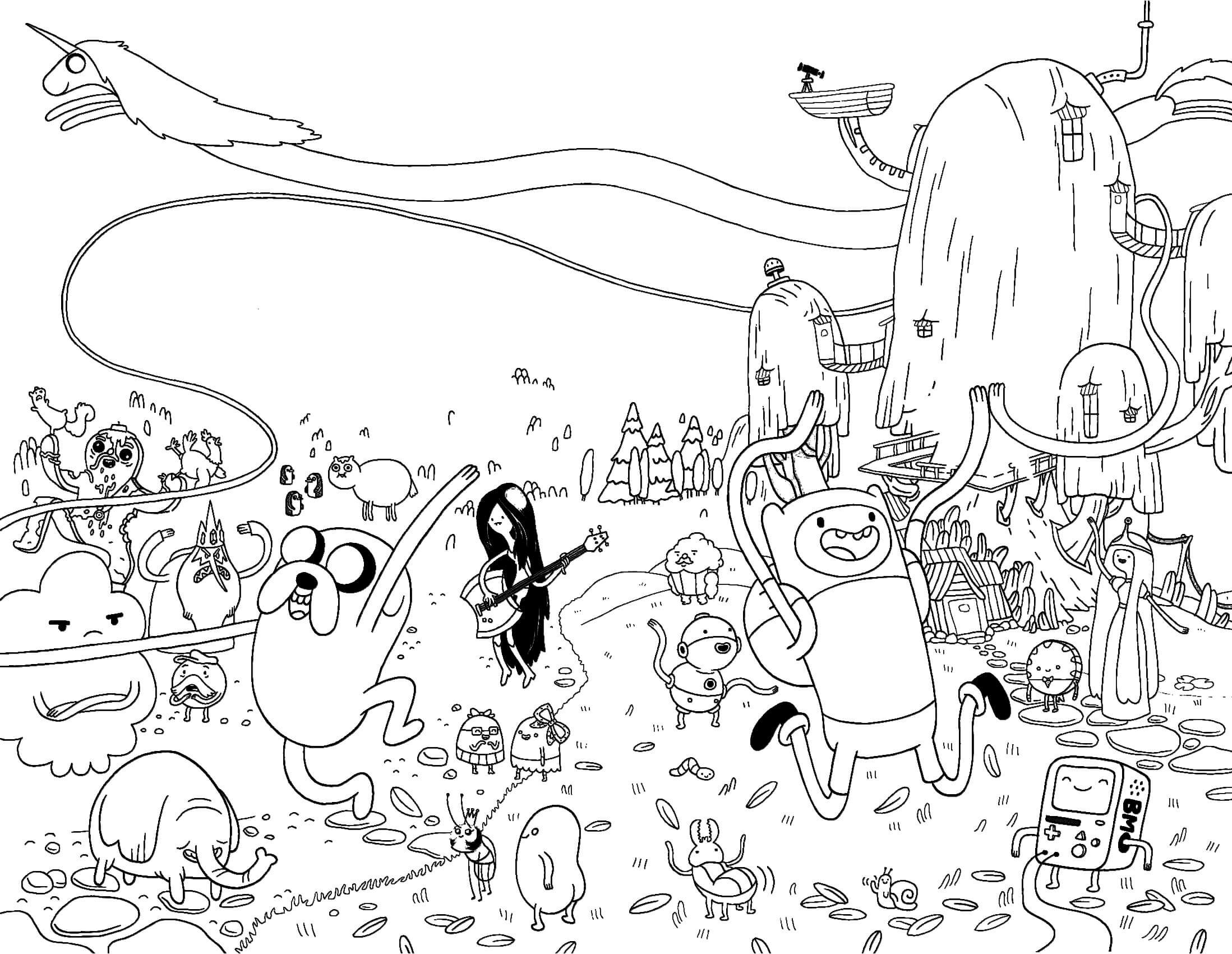 Adventure Time Coloring Pages4 Free Printables Coloring Pages Adventure Time Coloring Pages Cartoon Coloring Pages Coloring Pages