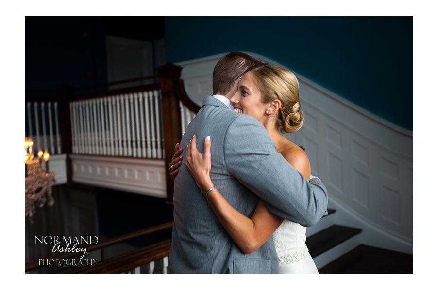 Bride and groom's first look Chris & Siena's Wedding in The Berkshires | Kemble Inn | Lenox, MA