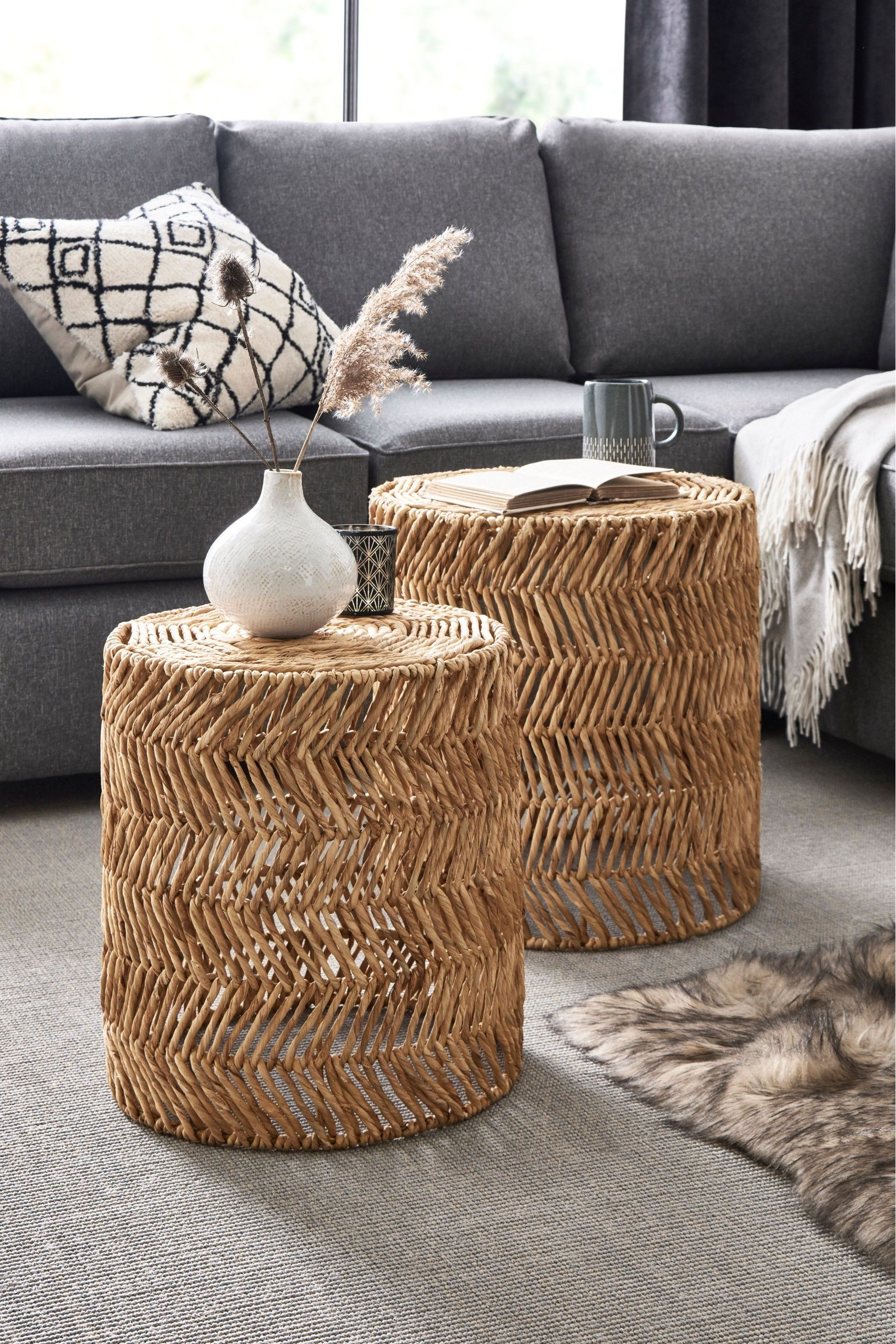 Next Woven Nest Of Tables - Natural | Coffee table next ...