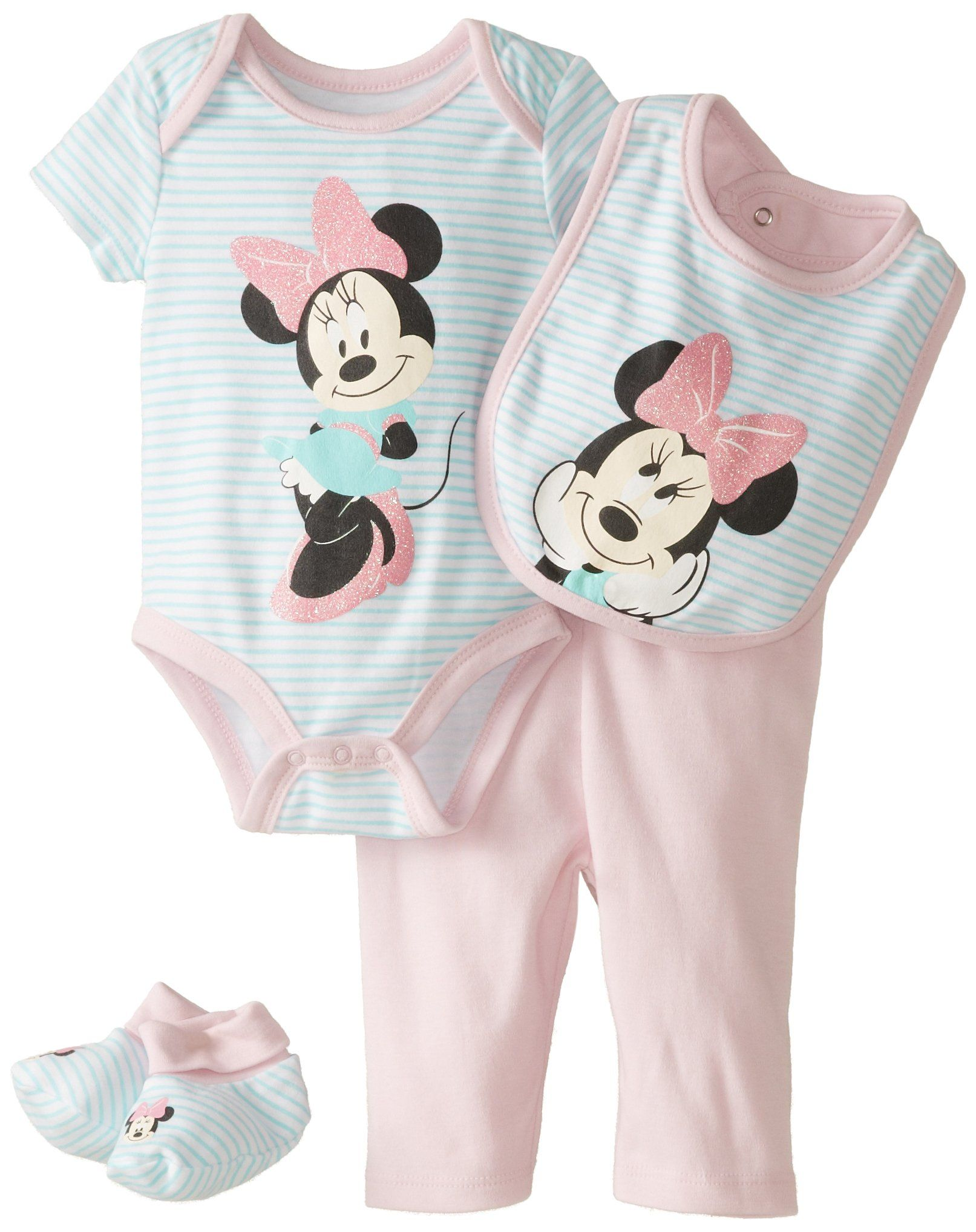 5aa3ce31e34 Disney Baby Girls' Minnie Mouse Girls 4 Piece Set, Multi, 0-3 Months ...