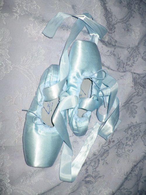 Blue ballet shoes, Pointe shoes, Ballet