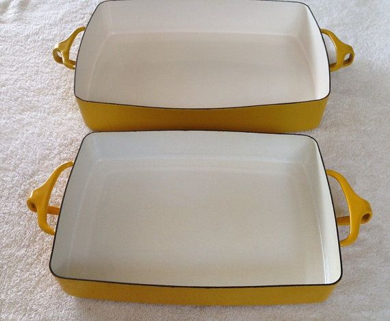 Dansk France Kobenstyle Yellow Baking Dishes door GailsVintageGarden