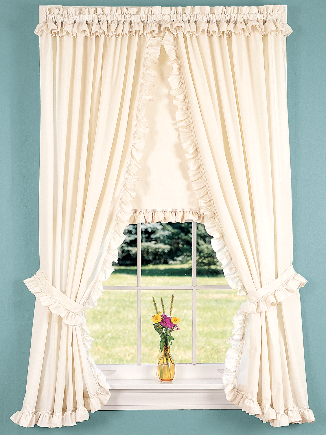 Narrow Ruffles Rod Pocket Priscilla Curtains Country Curtains
