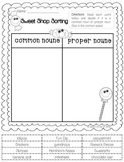 freebie common proper noun sort i 39 ve found that anytime my son uses scissors and glue his. Black Bedroom Furniture Sets. Home Design Ideas