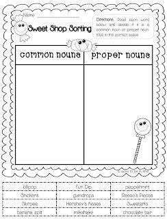 FREEBIE! Common & Proper Noun Sort | 2nd grade | Pinterest | Kind