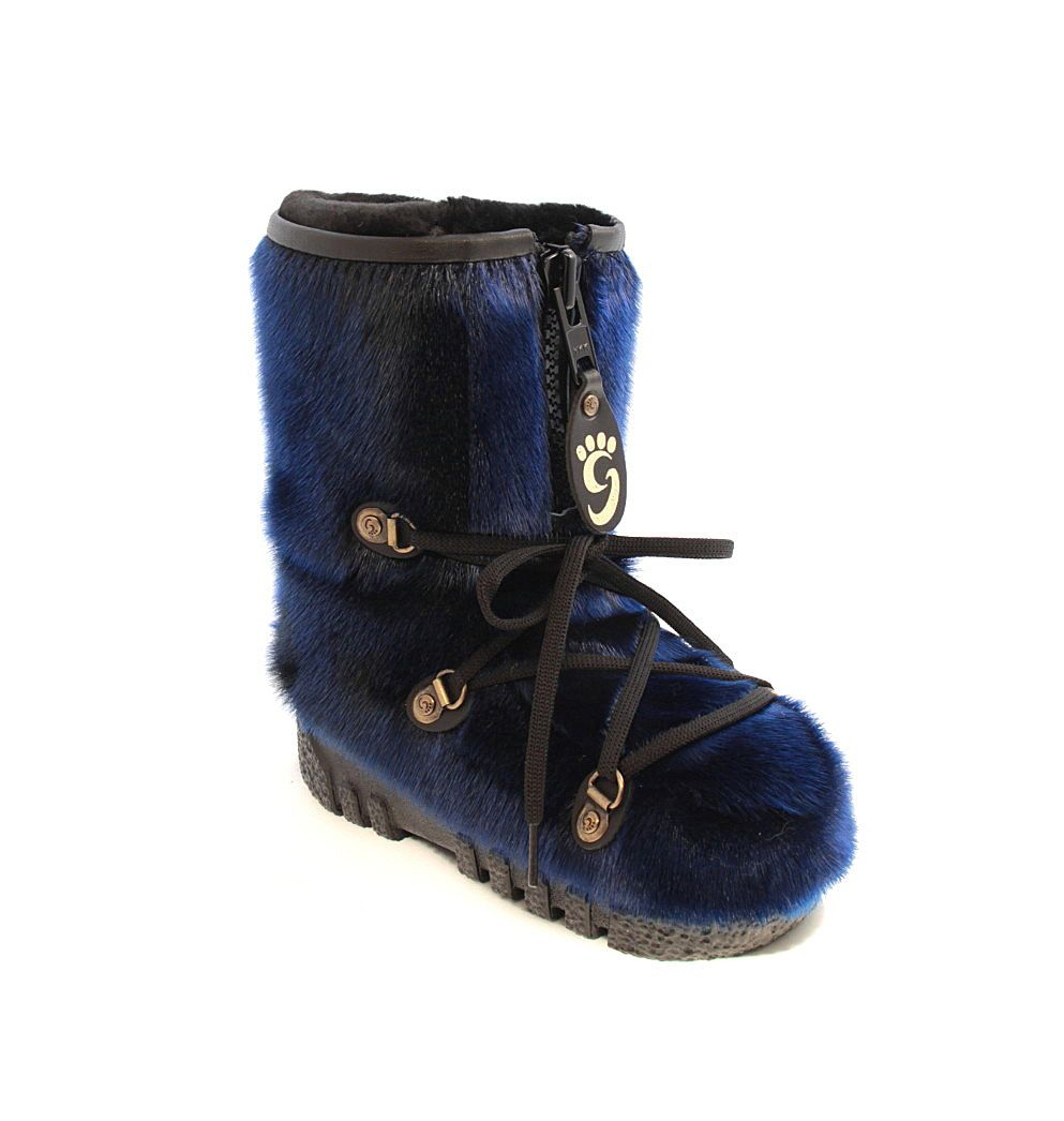 54e0d6f32617 Blue seal boots   Bottes en loup-marin bleu