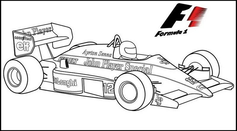 formula 1 racing cars  sports coloring pages cars