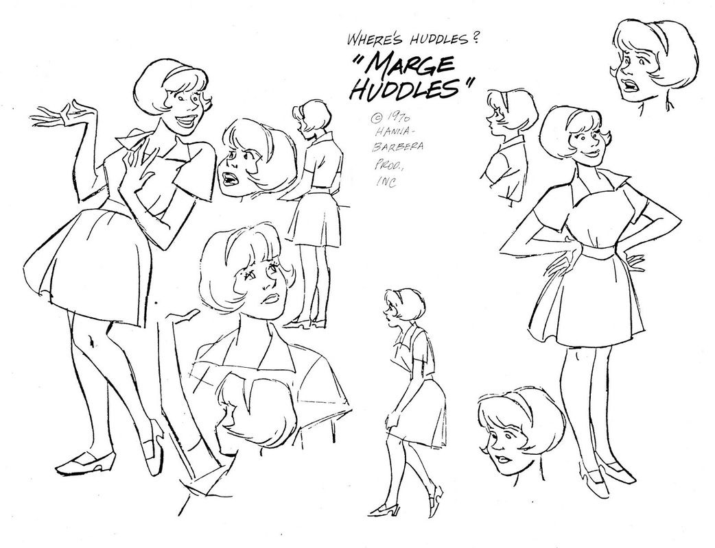 hanna barbera u0027s where u0027s huddles character design page hanna
