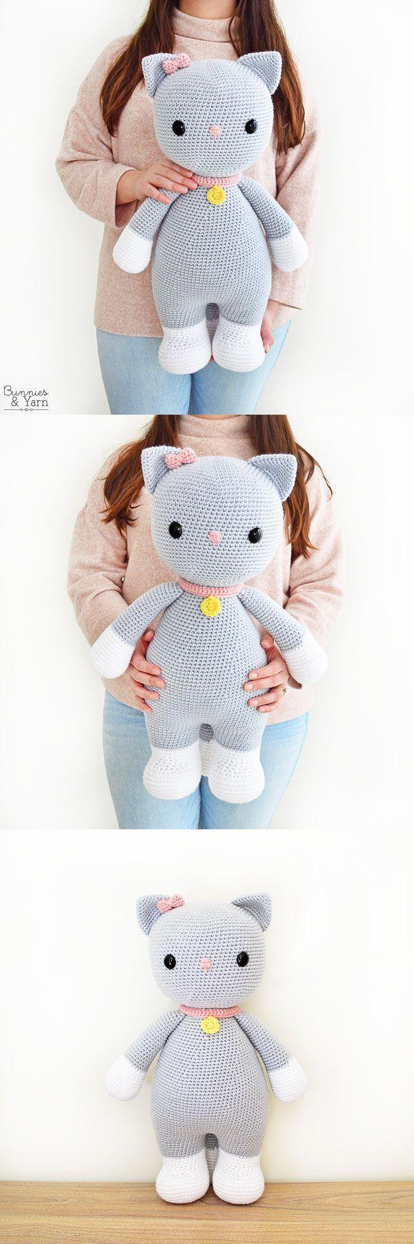 Playing Cats Crochet Amigurumi Pattern Crochet pattern by Little ... | 1800x600